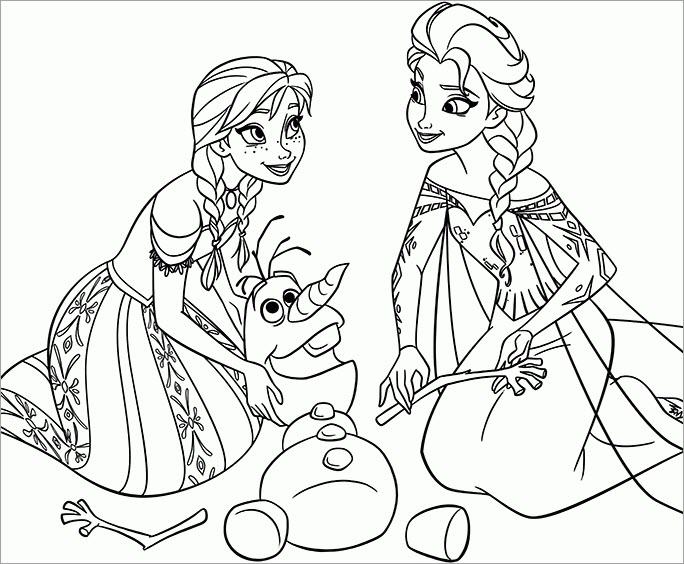 Ảnh tô màu công chúa Elsa đẹp