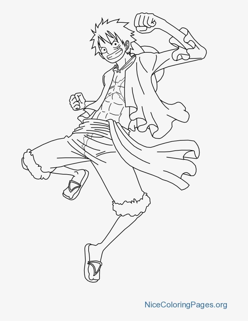 Ảnh tranh tô màu One Piece Luffy đẹp