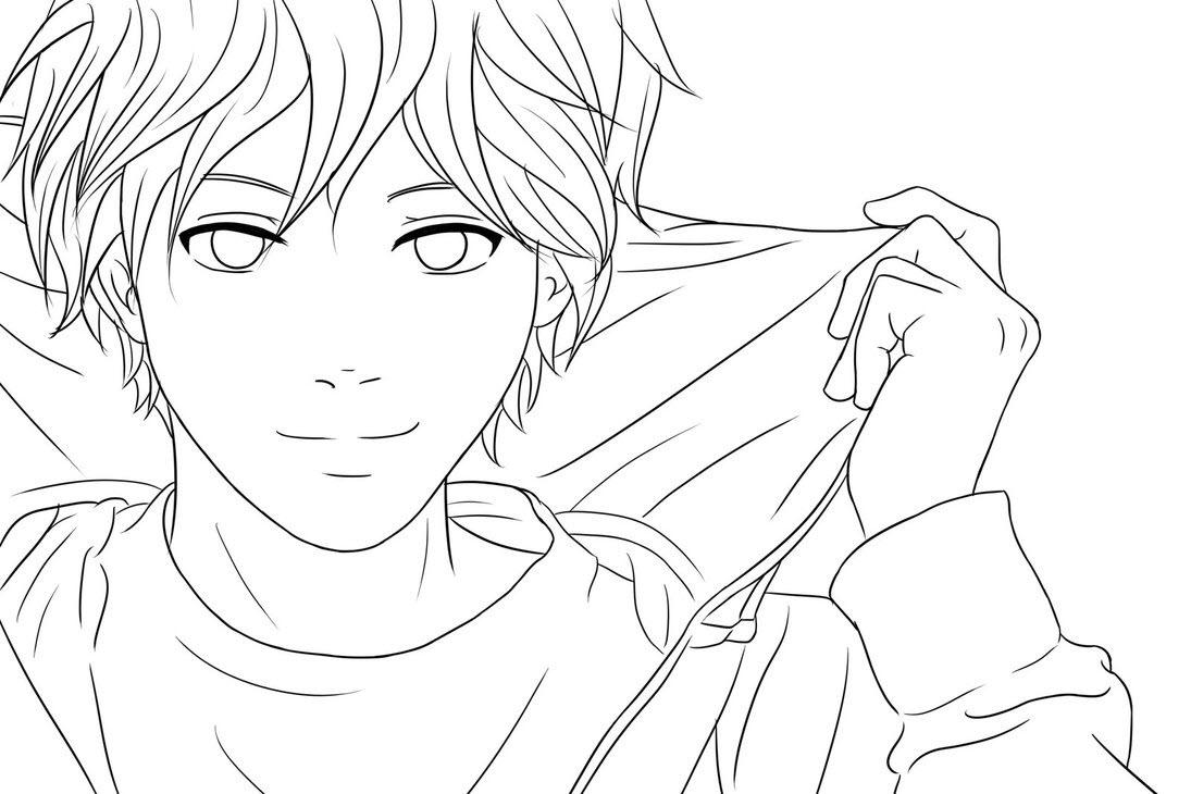 anime boy coloring