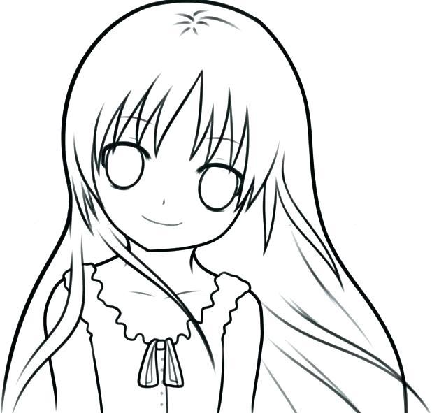anime girl coloring