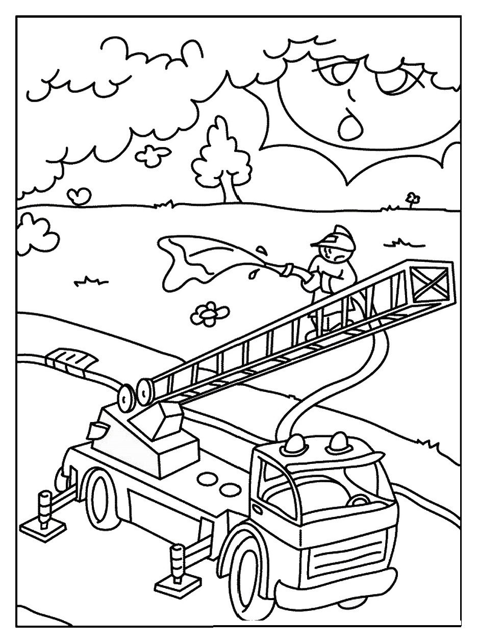 Coloring for Kid Fire Truck