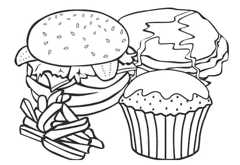 Coloring pages fast food