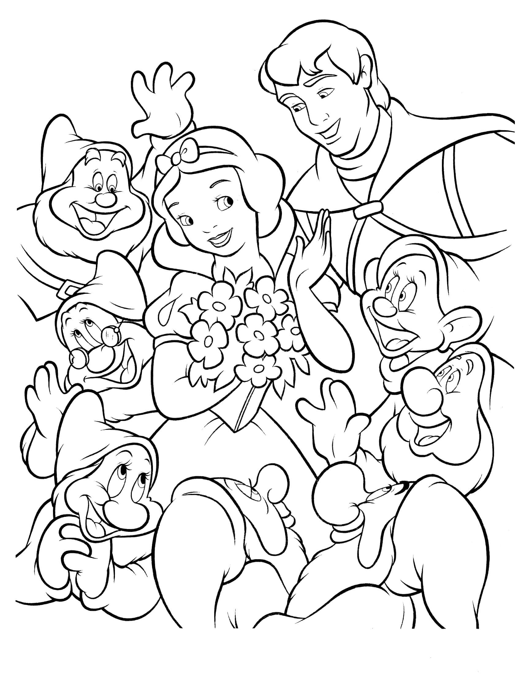 Coloring Snow White