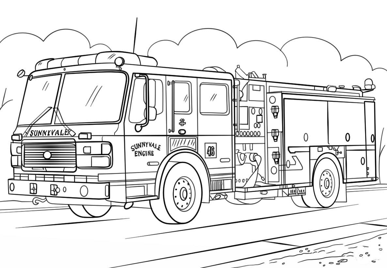 Coloring splendireeire truck