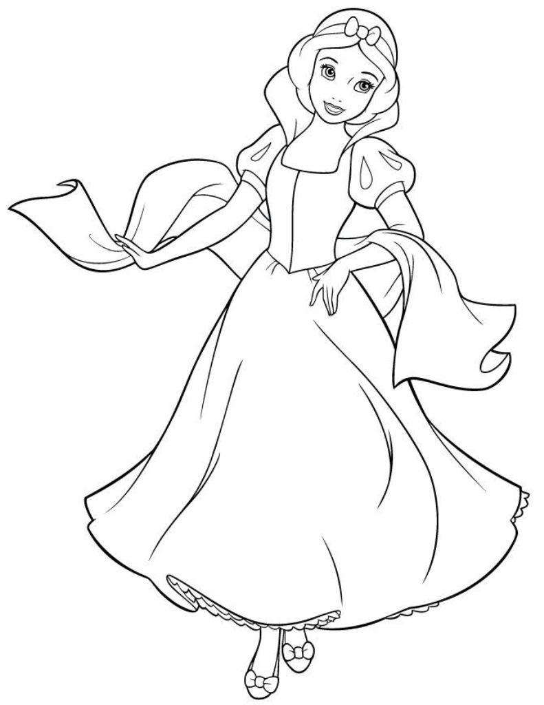 Công chúa bạch tuyết tranh tô màu
