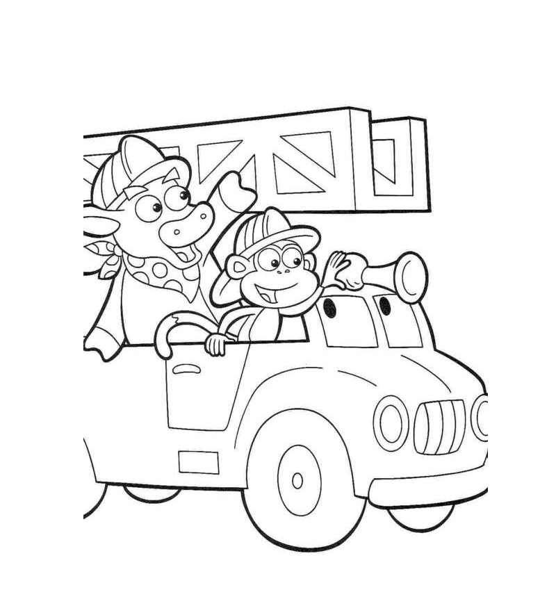 Drawing Firetruck simple