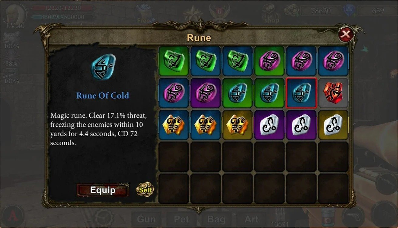 Dungeon Shooter items