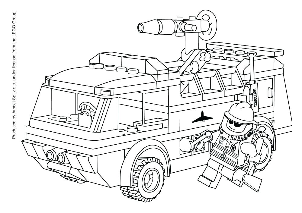 Fire truck and lego Coloring