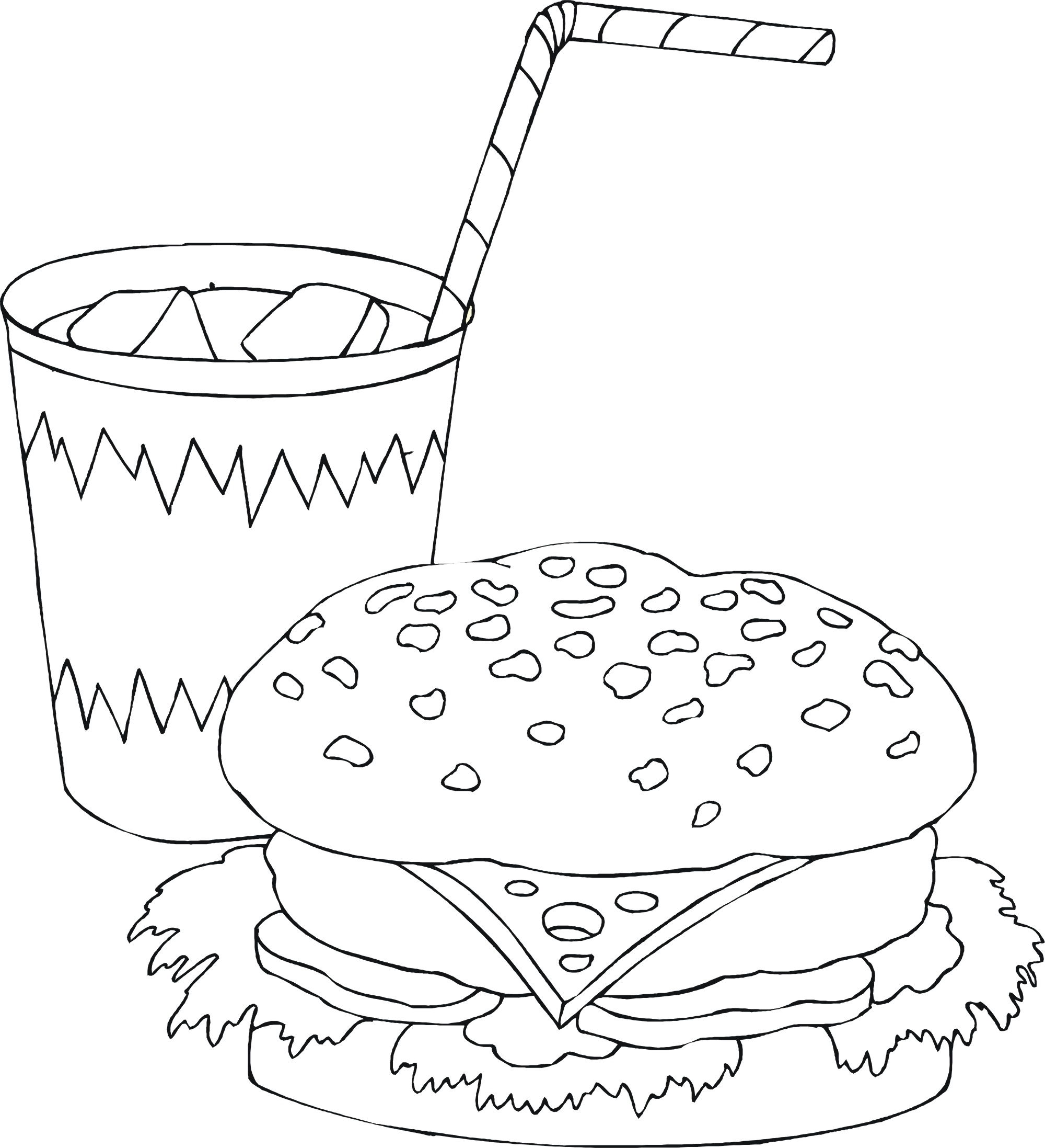 Food Coloring Pages Sandwich