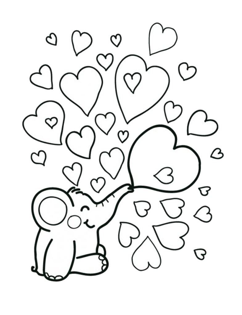 Hearts coloring