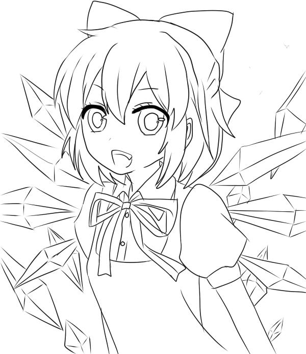 Hình ảnh tô màu anime