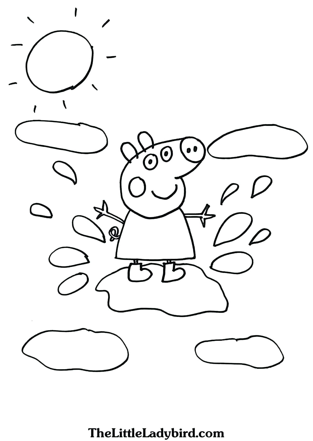 Hình ảnh tô màu đẹp của chú heo Peppa