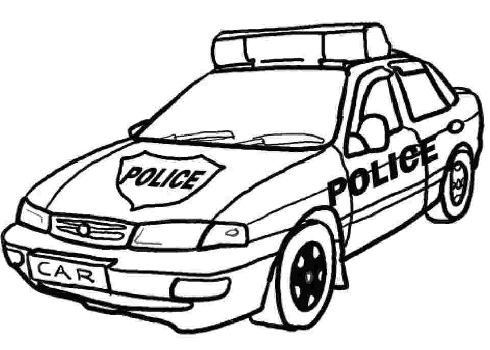 Hình ảnh tô màu xe cảnh sát công an cực đẹp