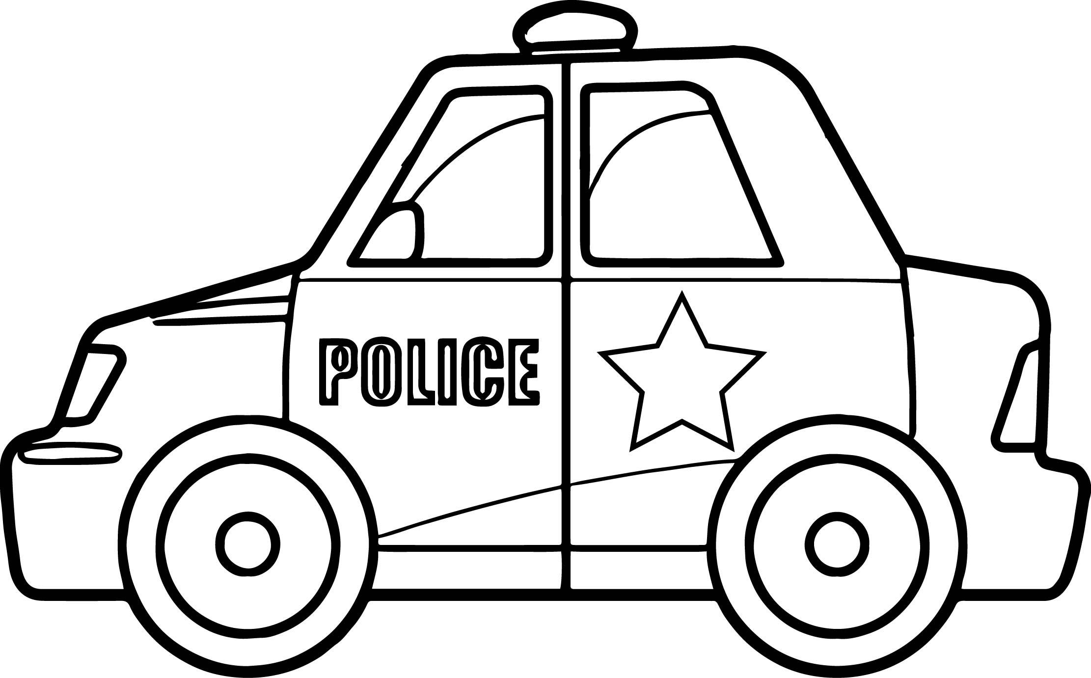 Hình ảnh tô màu xe cảnh sát rất đẹp