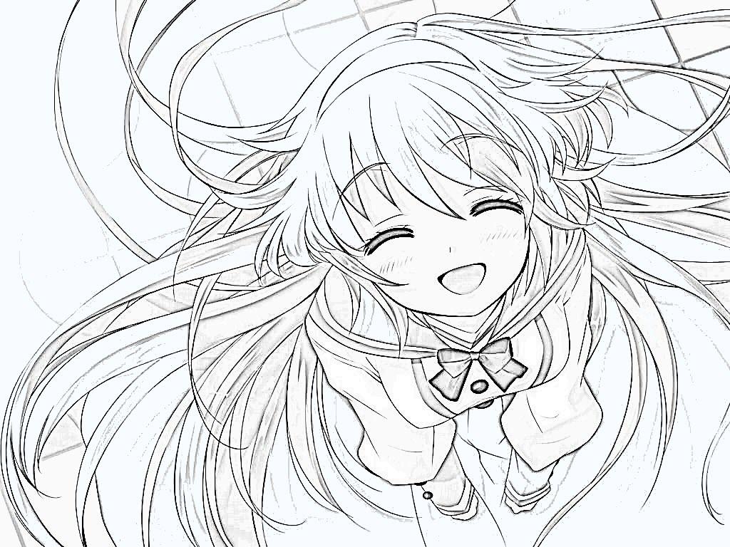 Hình anime đẹp nhất cho bé tập tô màu