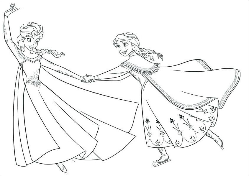 Hình tô màu công chúa Elsa cực đẹp