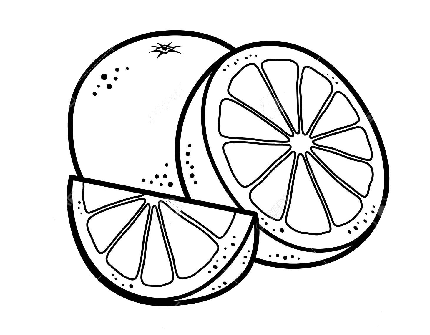 Hình tô màu quả cam