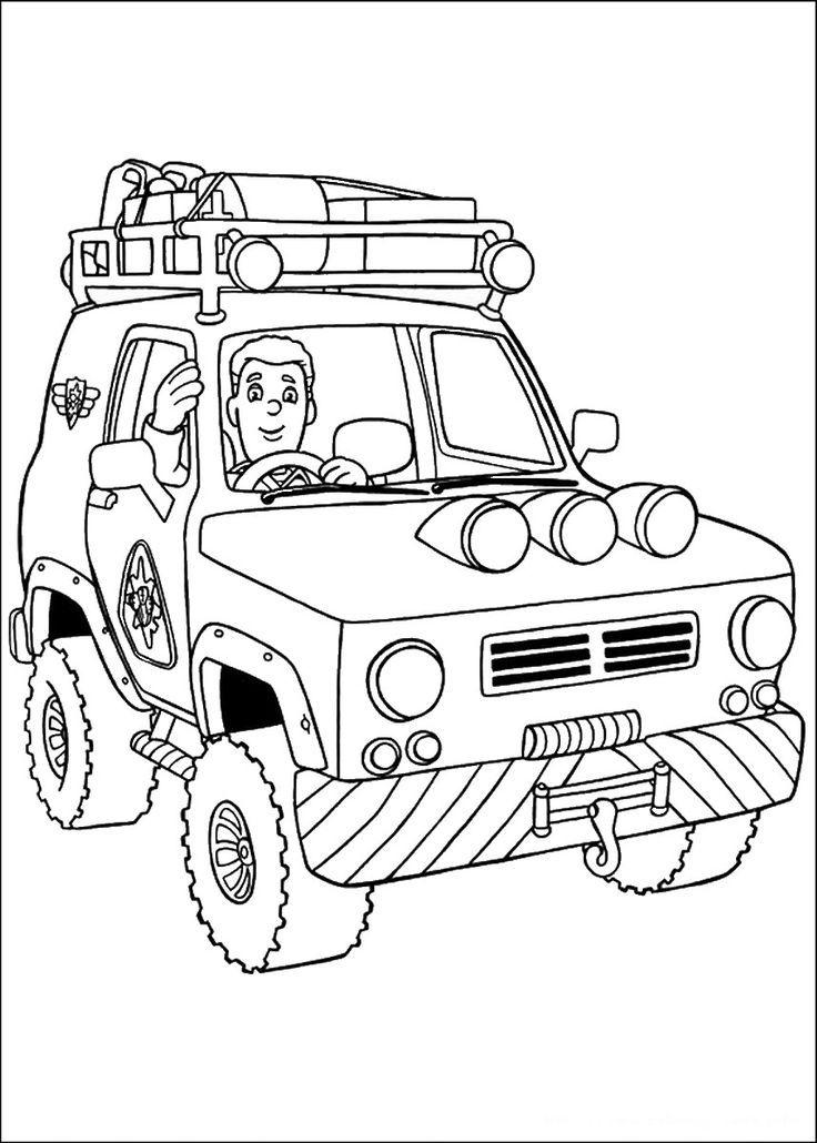 Hình xe cứu hỏa cho bé tập tô