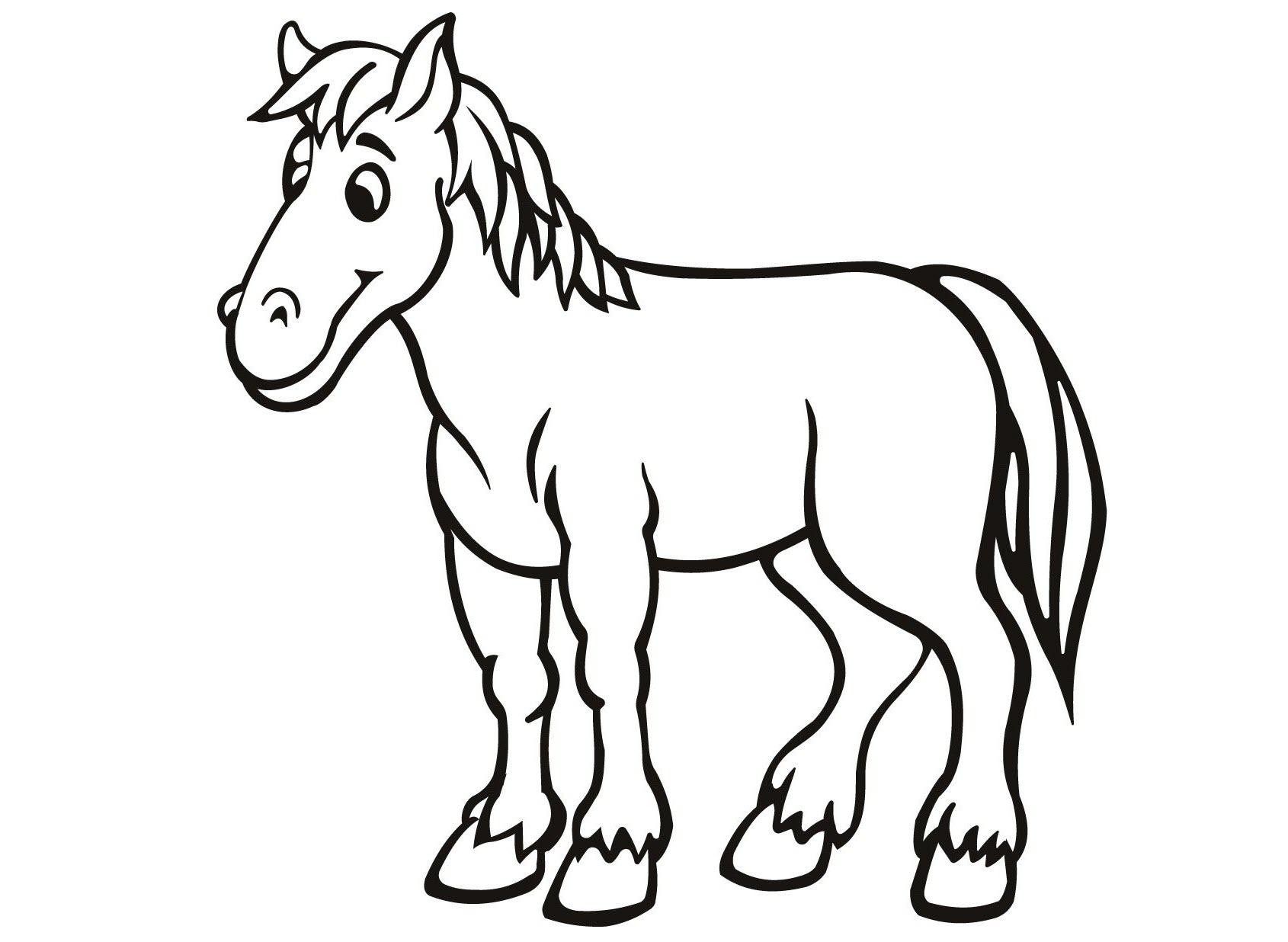 Horse coloring pages preschool
