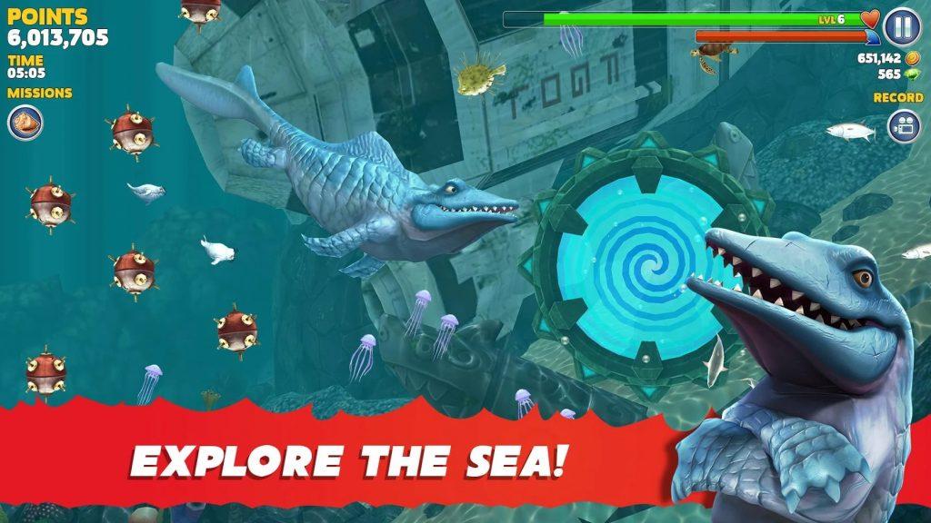 Hungry Shark Evolution mod apk 1024x576