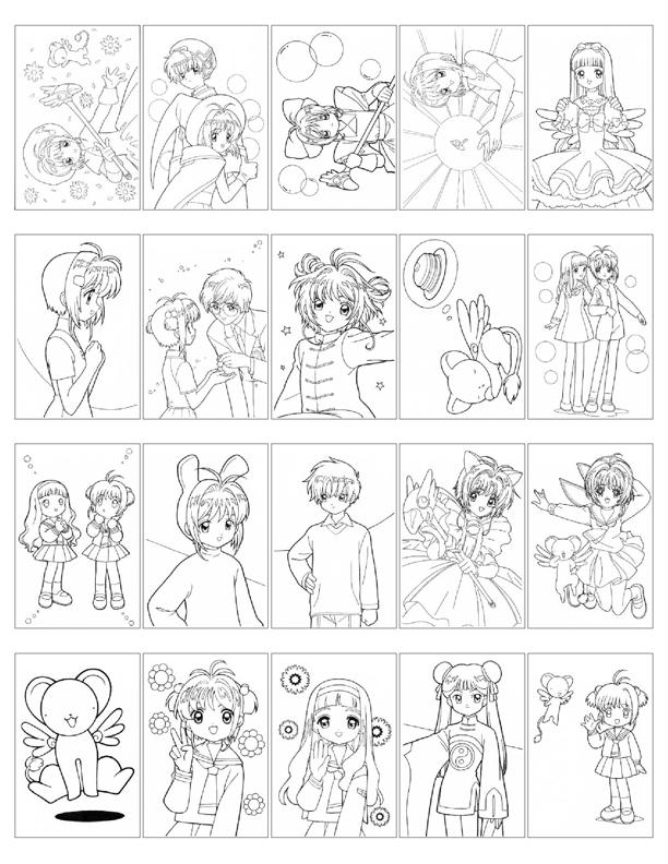 Nhiều bức hình tranh tô màu Sakura