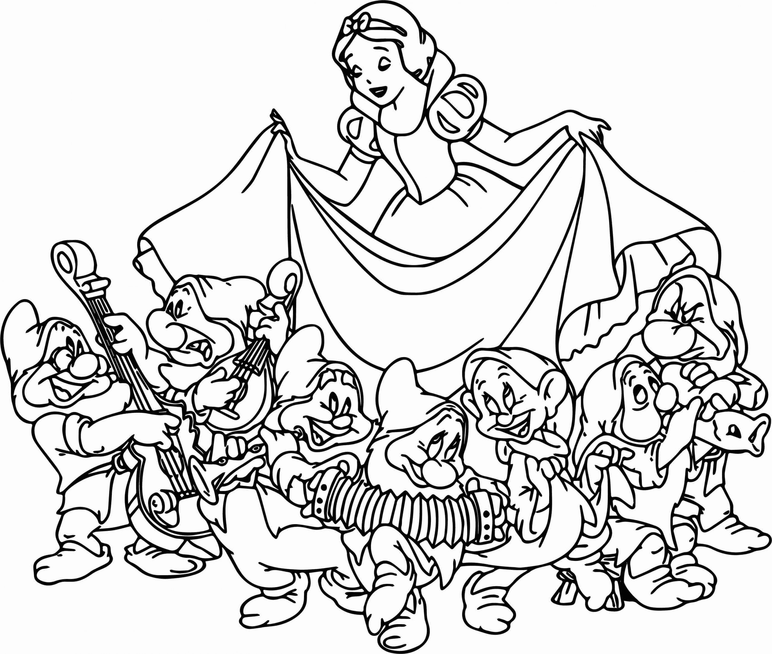 Snow white and the seven dwarfs coloring