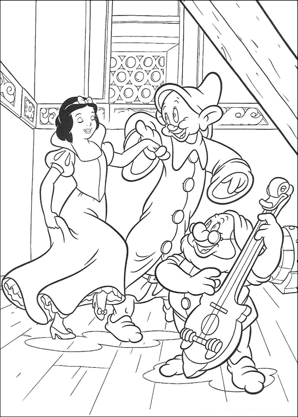 Snow white coloring