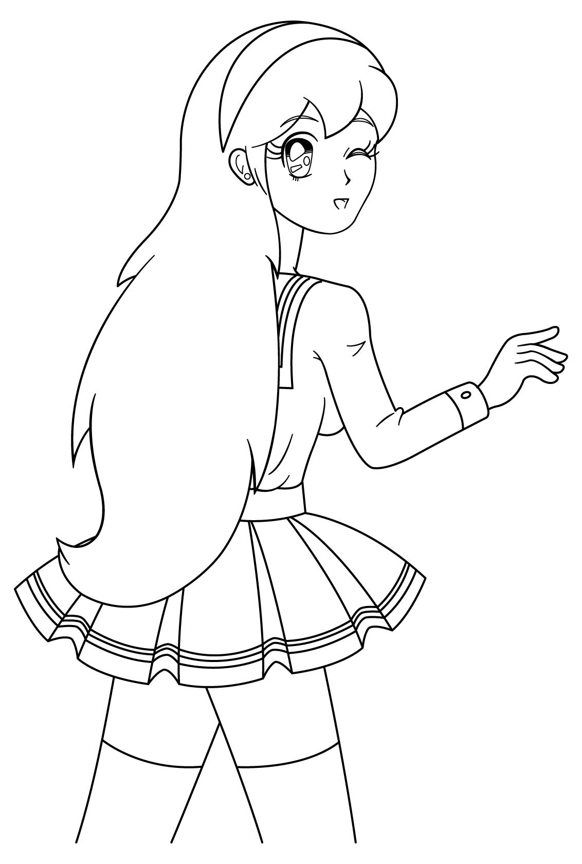 Tô màu anime cô gái đẹp