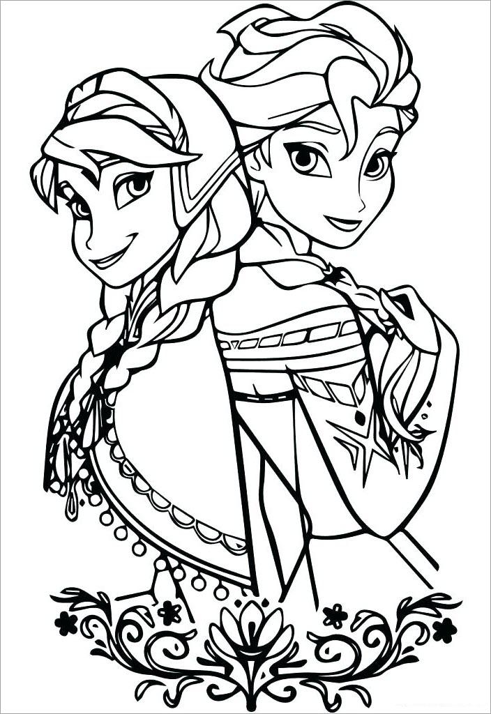 Tô màu công chúa Elsa