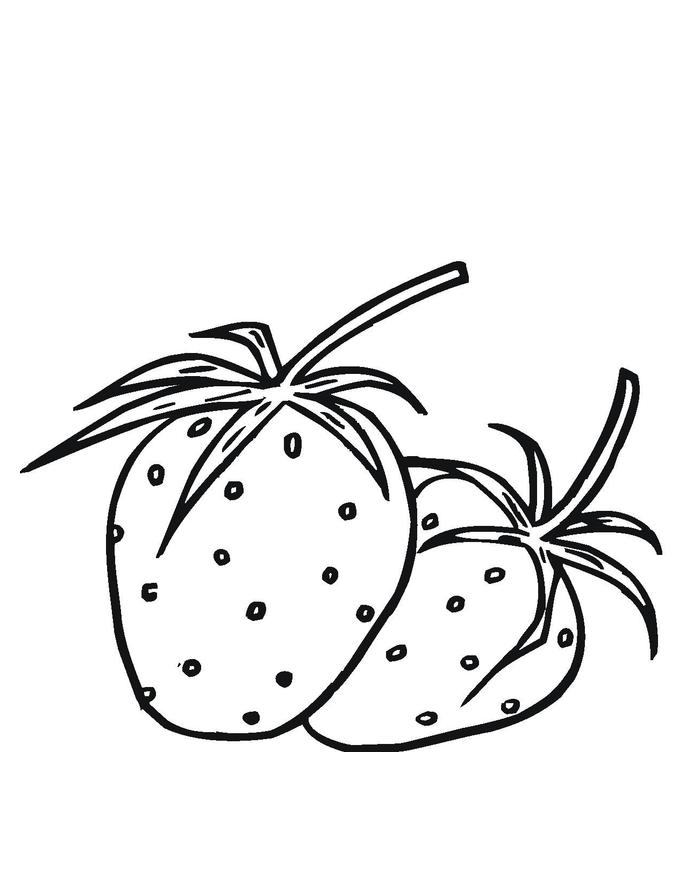 Tranh quả dâu tây đơn giản