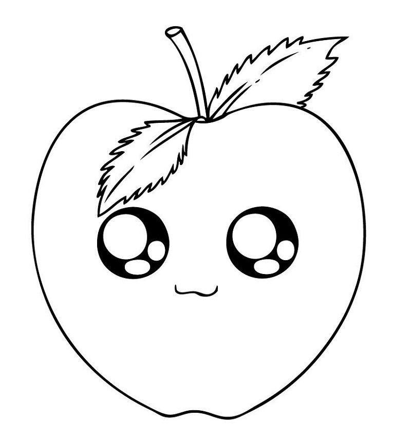 Tranh quả táo đáng yêu