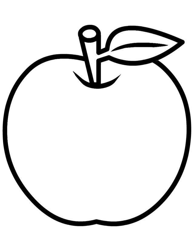 Tranh quả táo tô màu cho bé