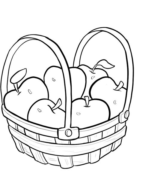 Tranh rỏ quả táo tô màu