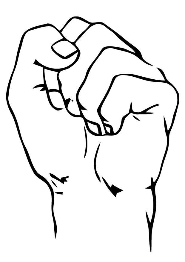 Tranh tô màu bàn tay đang nắm