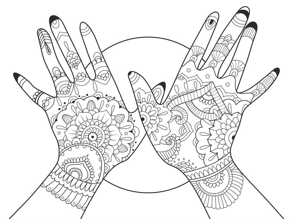 Tranh tô màu bàn tay nghệ thuật