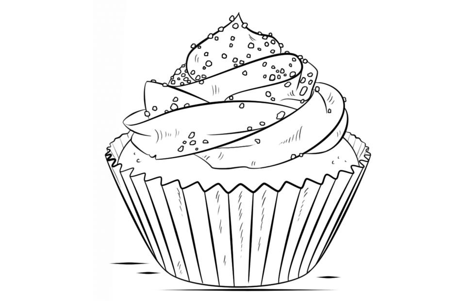 Tranh tô màu bánh ngọt đẹp