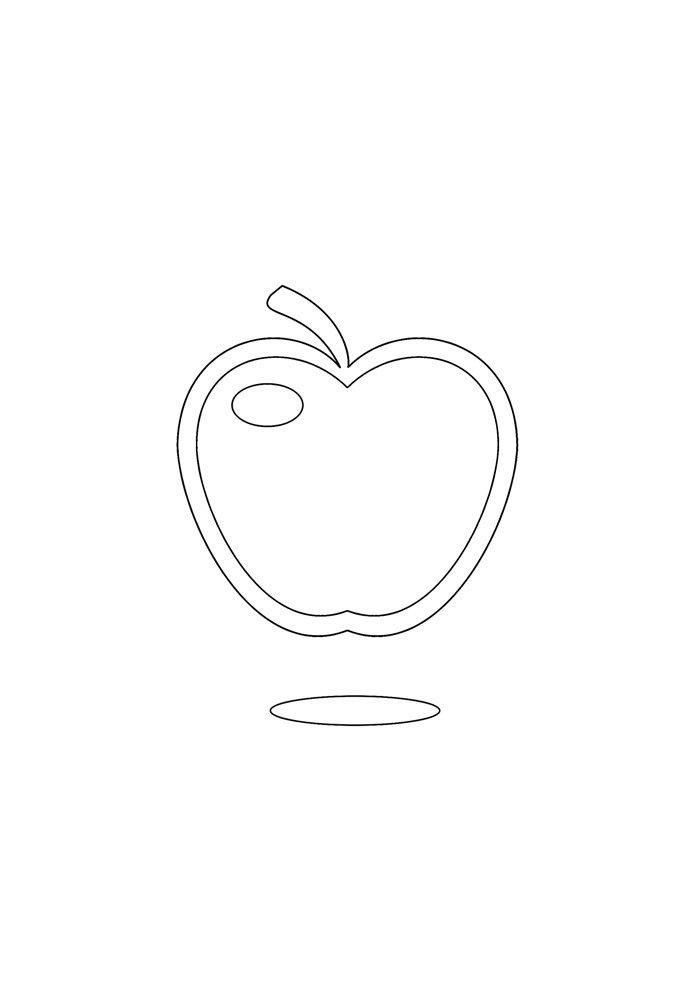 Tranh tô màu biểu tượng quả táo