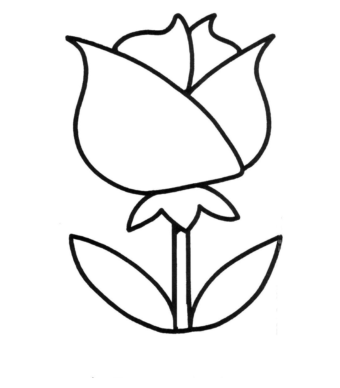 Tranh tô màu bông hoa cho bé 3 tuổi
