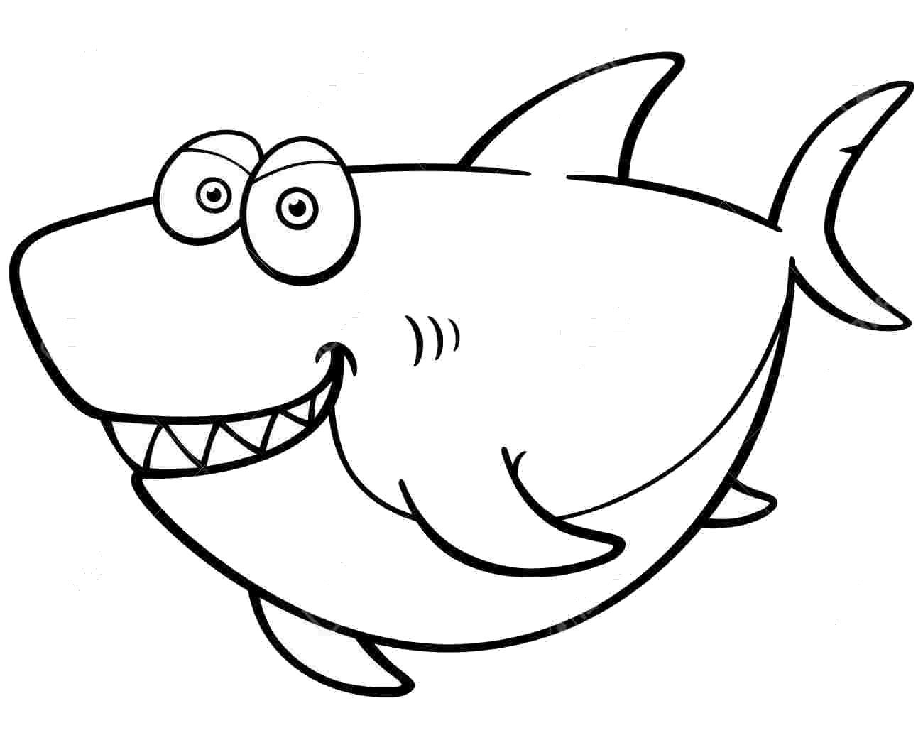 Tranh tô màu cá mập hài hước nhất