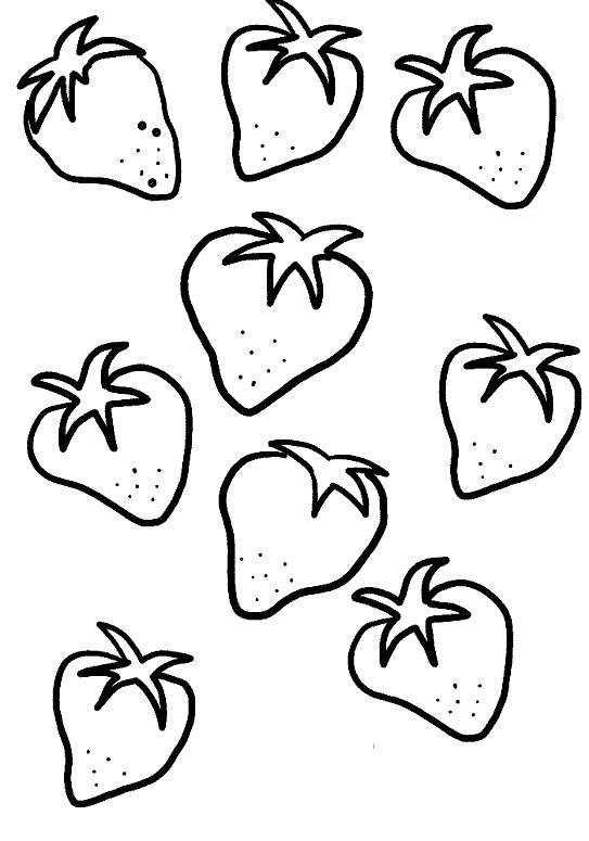 Tranh tô màu các quả dâu tây