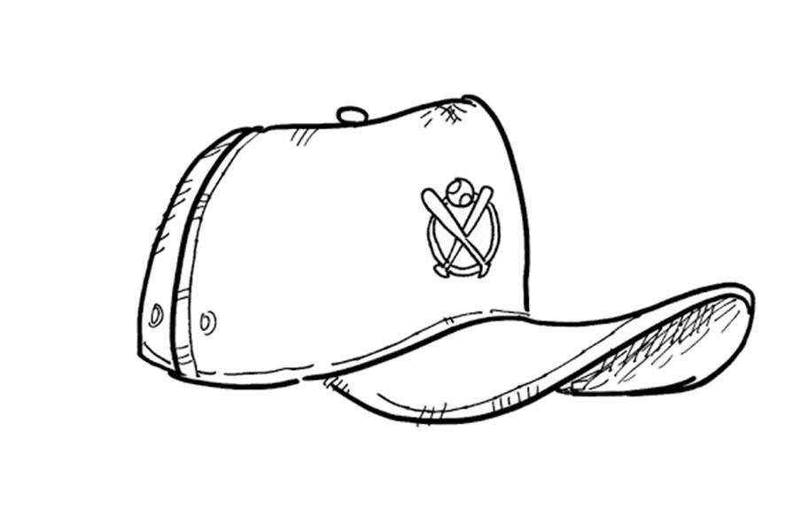 Tranh tô màu cái mũ bóng chày