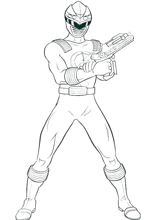 Tranh tô màu cầm súng là siêu nhân