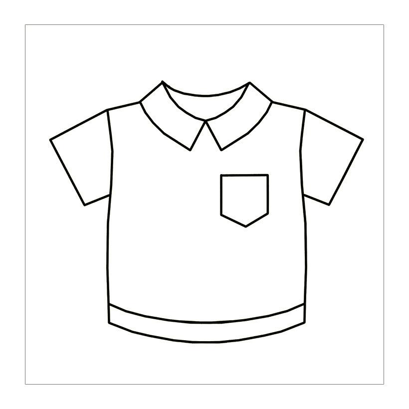 Tranh tô màu chiếc áo cho bé 3 tuổi