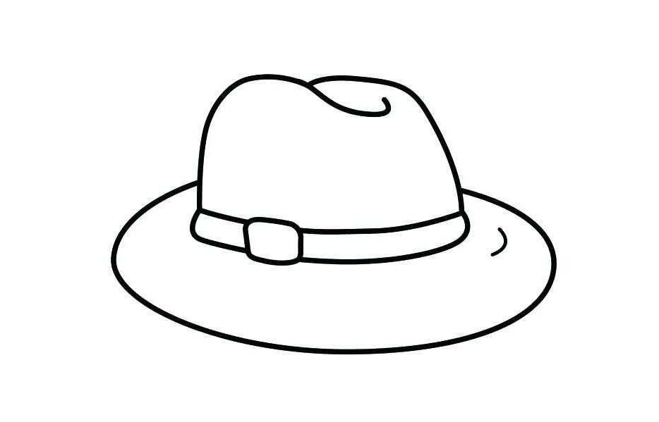 Tranh tô màu chiếc mũ Fedora