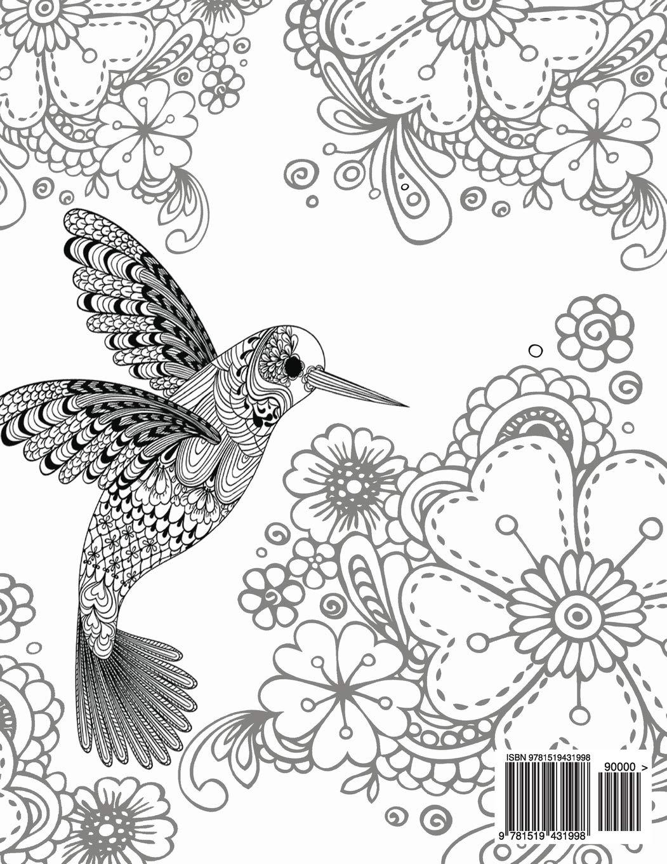 Tranh tô màu chim có hoa văn đẹp