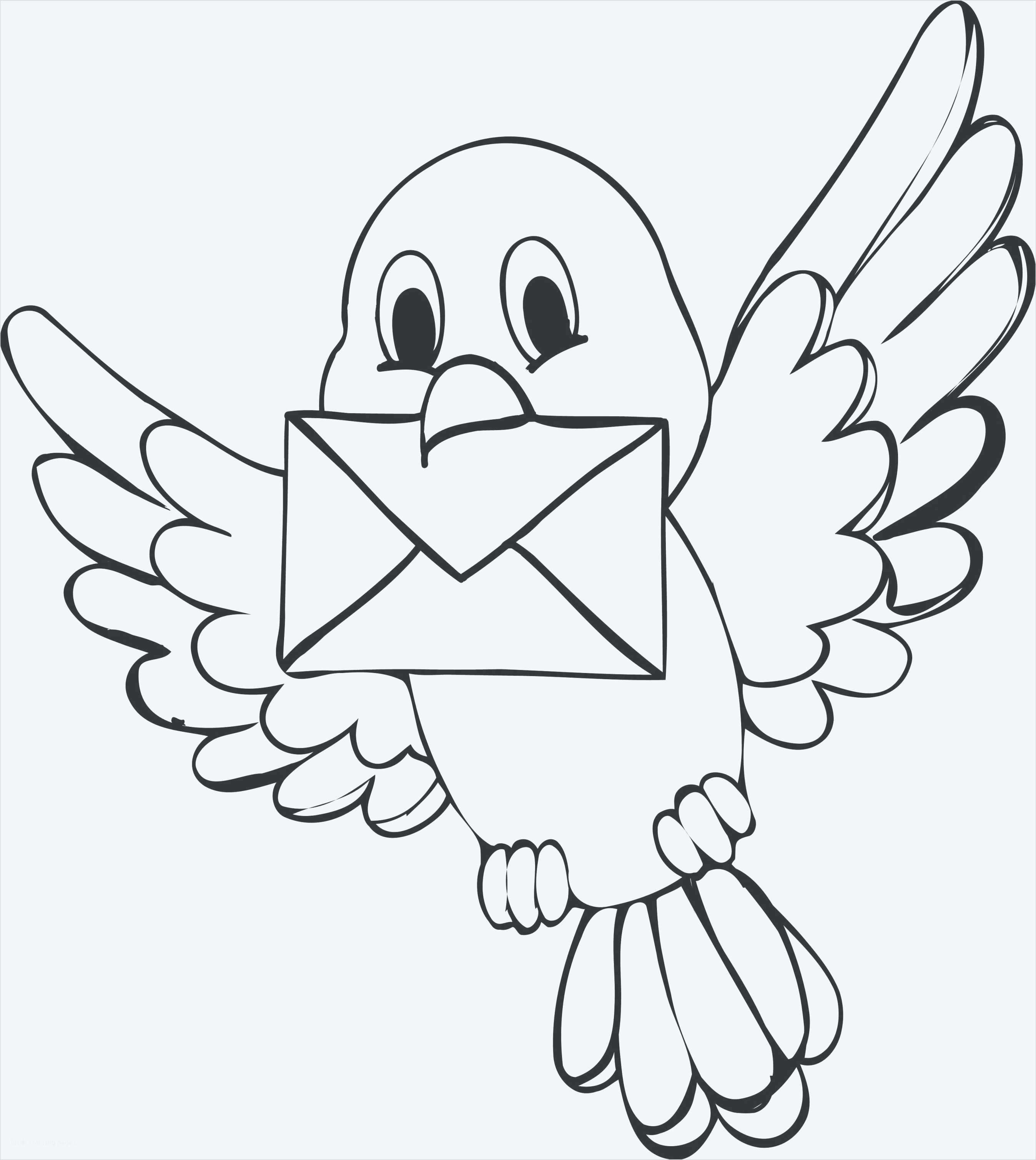 Tranh tô màu chim đưa thư