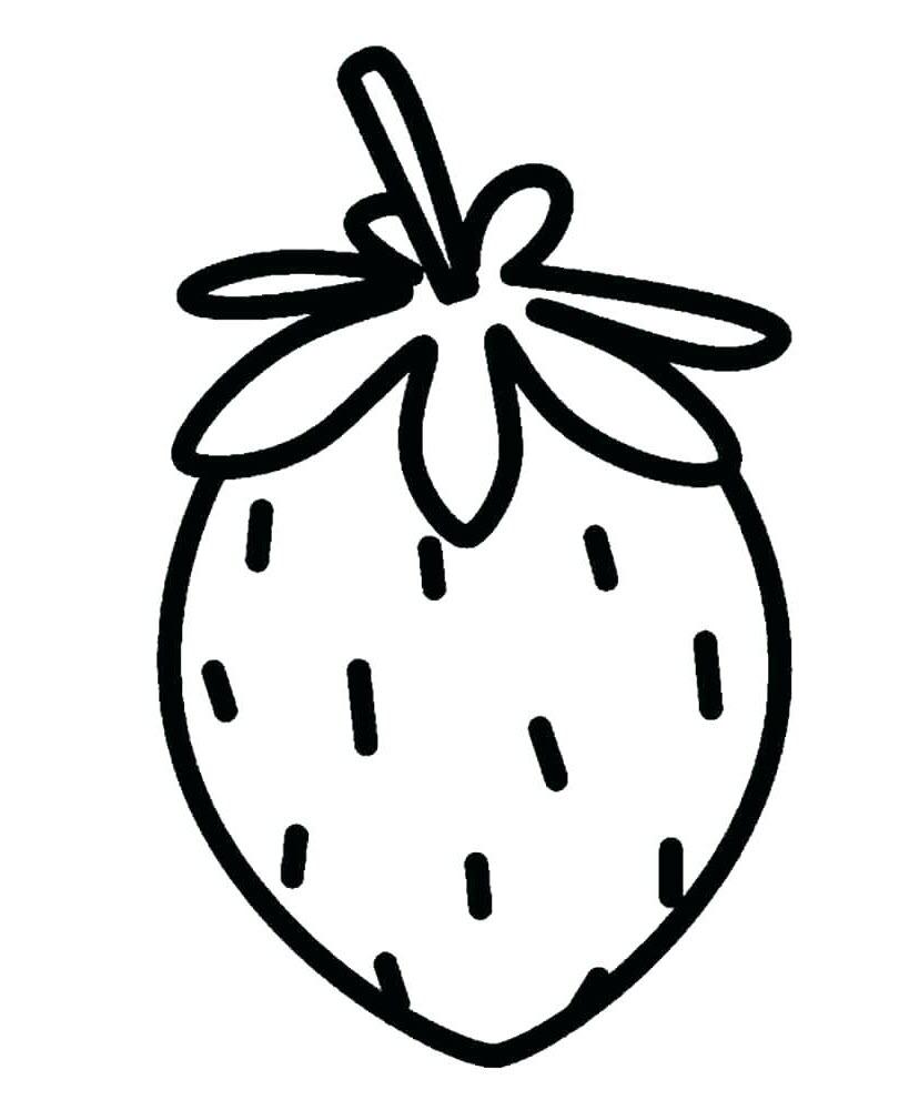 Tranh tô màu cho bé 3 tuổi hoa quả