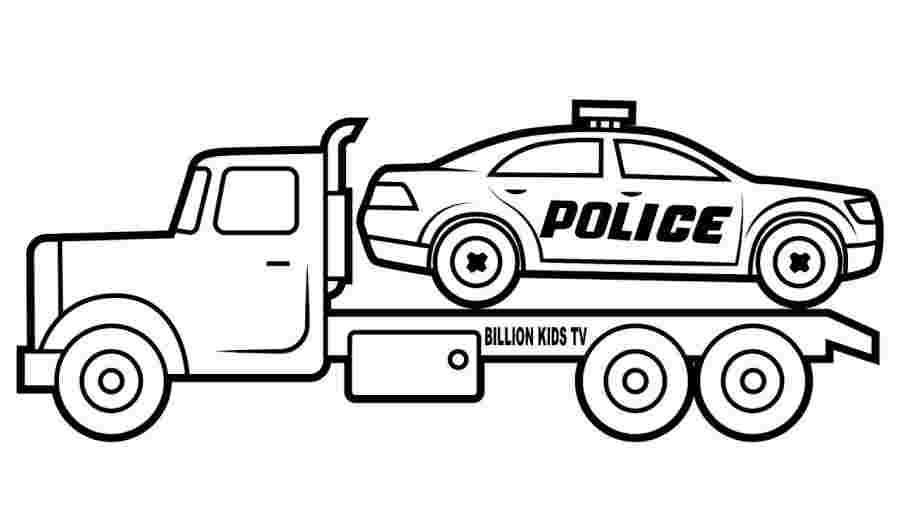 Tranh tô màu cho xe cảnh sát