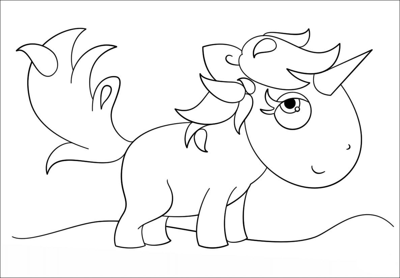 Tranh tô màu chú ngựa đơn giản