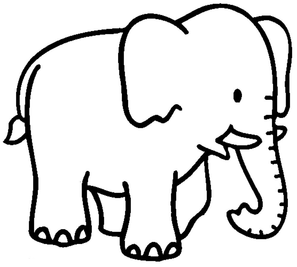 Tranh tô màu chú voi đáng yêu